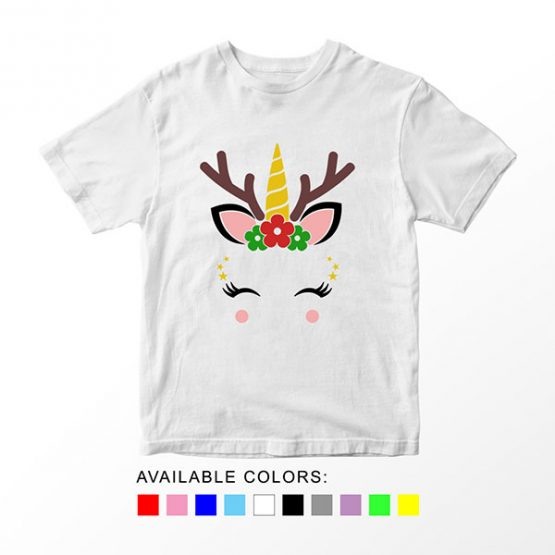 T-Shirt Unicorn Reindeer by Clotee.com Aesthetic Clothing