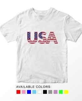 T-Shirt USA Patriotic Kids Independence Day 4th July by Clotee.com Aesthetic Clothing